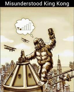 Alors c'était ça l'truc. Il avait qu'une barre le pauvre petit King-Kong. - meme
