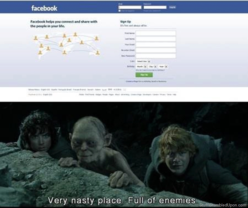Facebook is a Nasty Place - meme