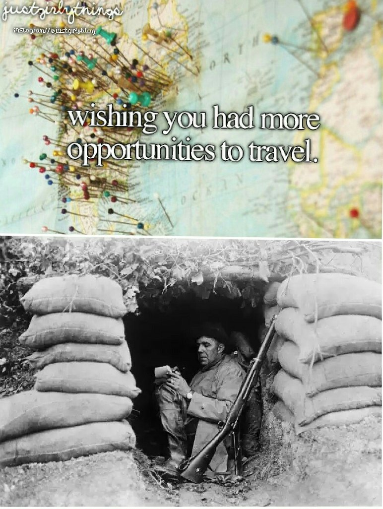 I want to travel too. - meme