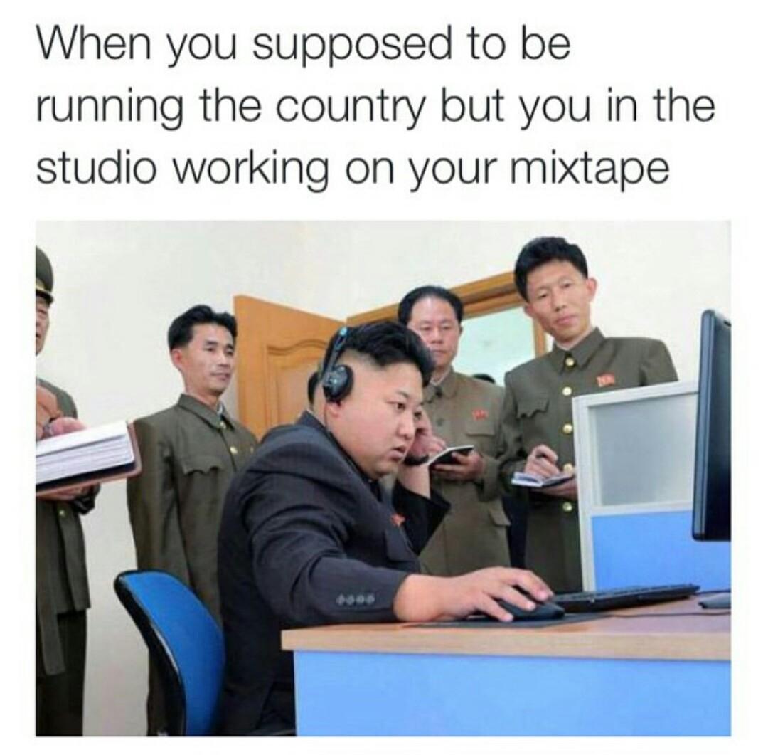 kim jong fire - meme