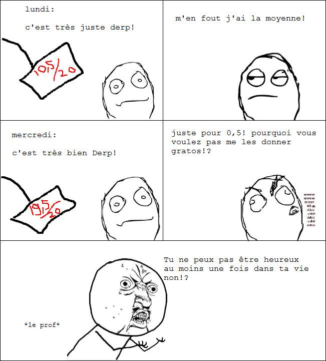 Nous et les notes - meme