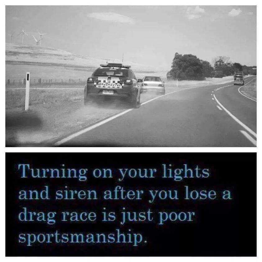 Plus, those flashing lights look utterly ridiculous! - meme