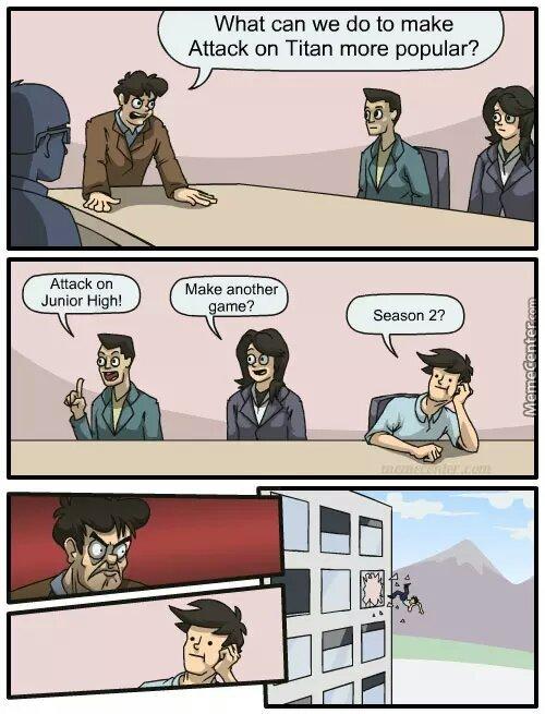 attack on titan - meme