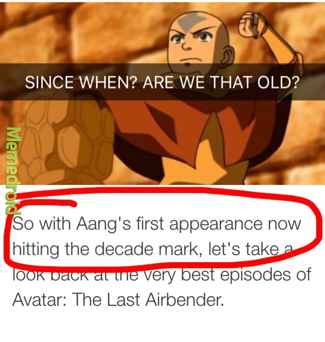 The Last Airbender's 10 year Anniversary is coming up, and it still manages to change my life - meme