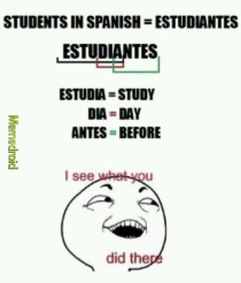 Estudiantes y su significado - meme