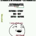 Estudiantes y su significado