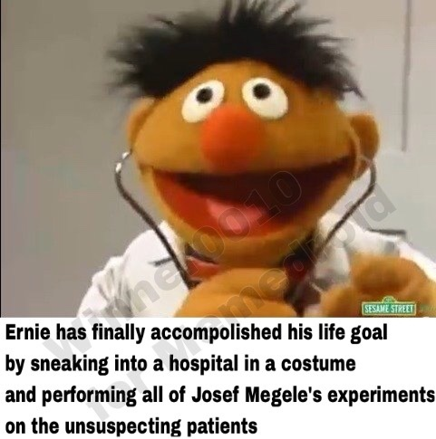 Ernie got no chill - meme