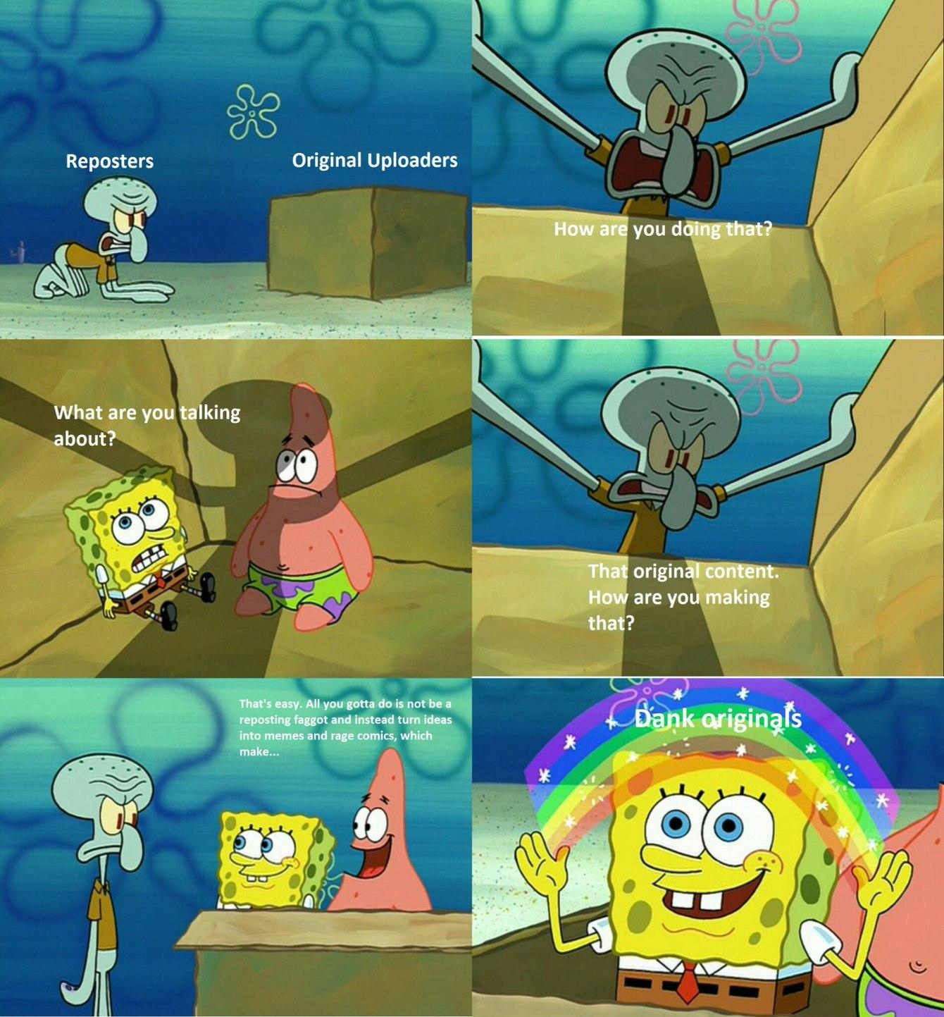 Schooled by the sponge - meme