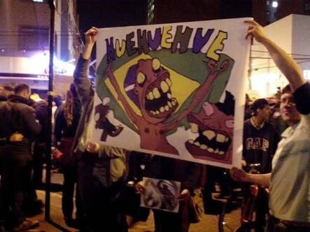 deboas nos protestos - meme