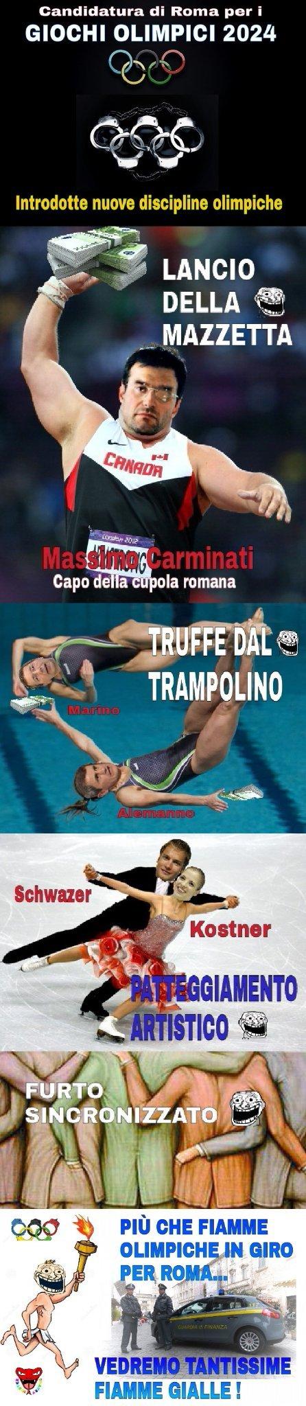Roma e le Olimpiadi 2024 ~ Cito Crozza... - meme