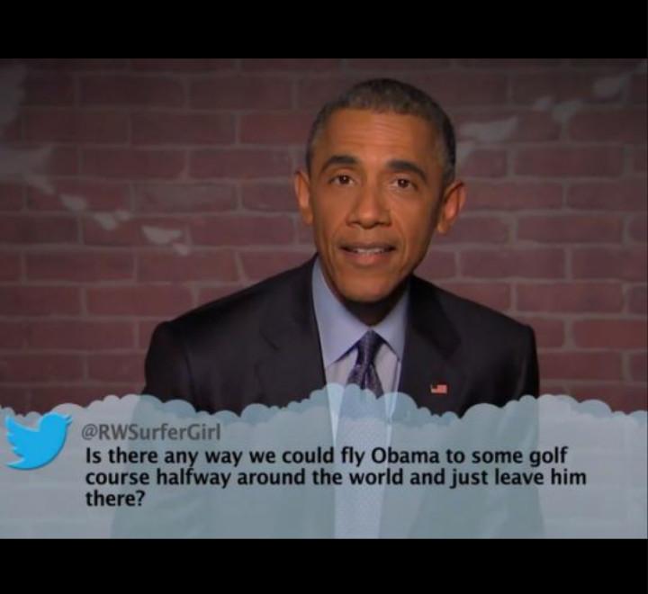 Mean tweets of Obama - meme