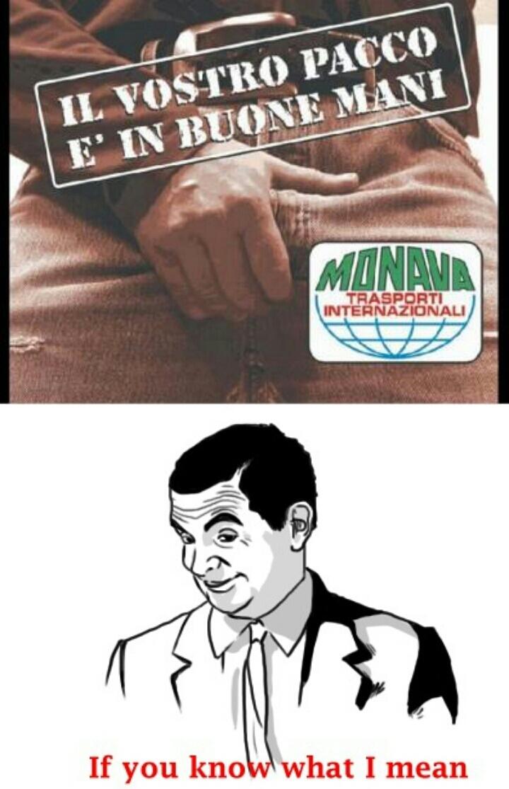 il pacco é in buone mani - meme
