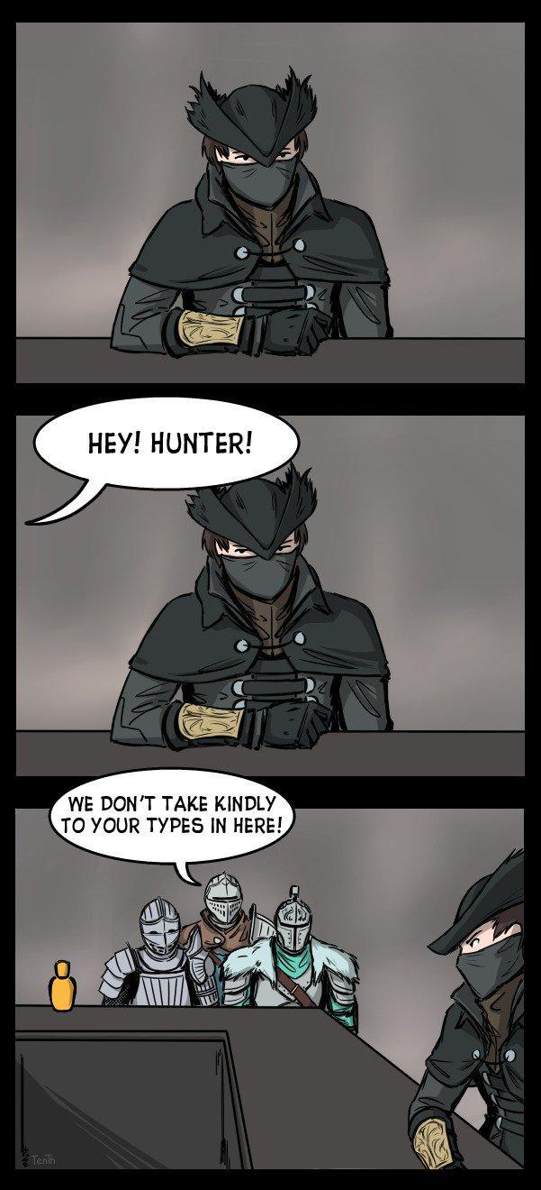 Damn hunters - meme