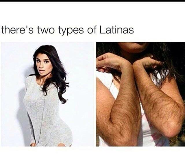 Two types of latinas - meme