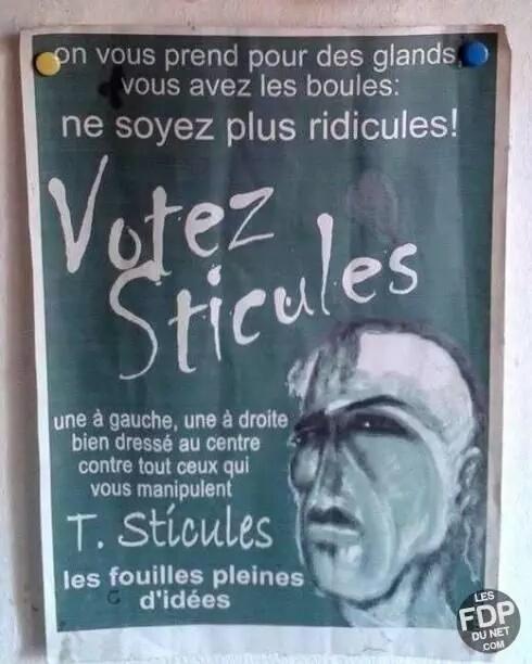 Votez Sticules!! - meme