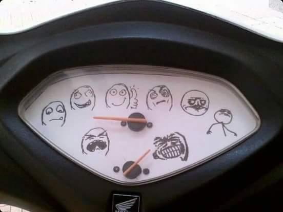 Pas mal l'affichage des vitesses ahah - meme