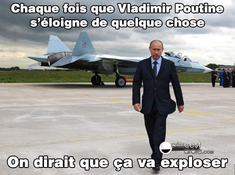 Super Poutine ! Super Poutine ! Boom explosion nucléaire ! - meme