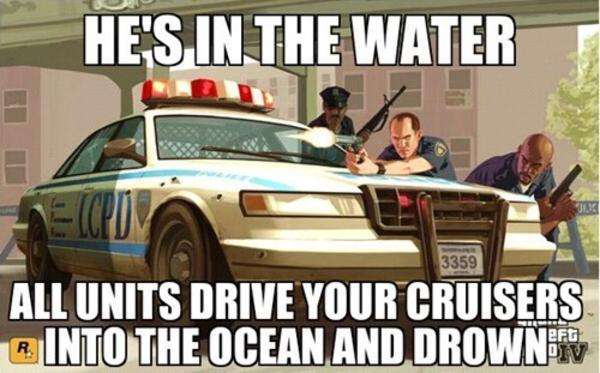 Police AI in GTA IV - meme