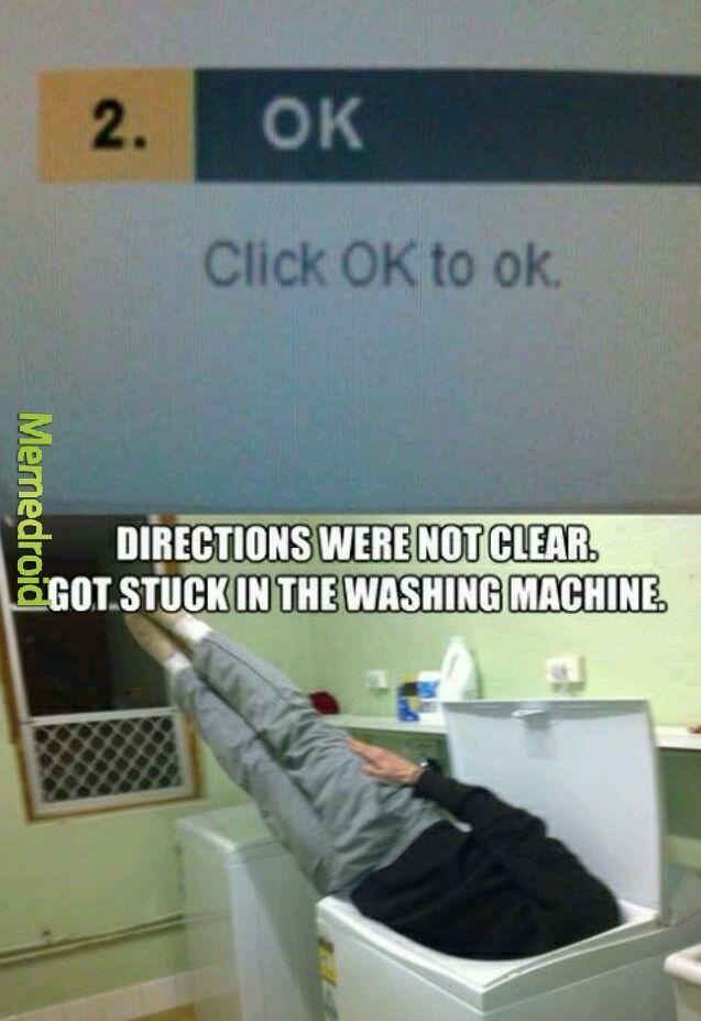 Title is stuck in a washing machine - meme