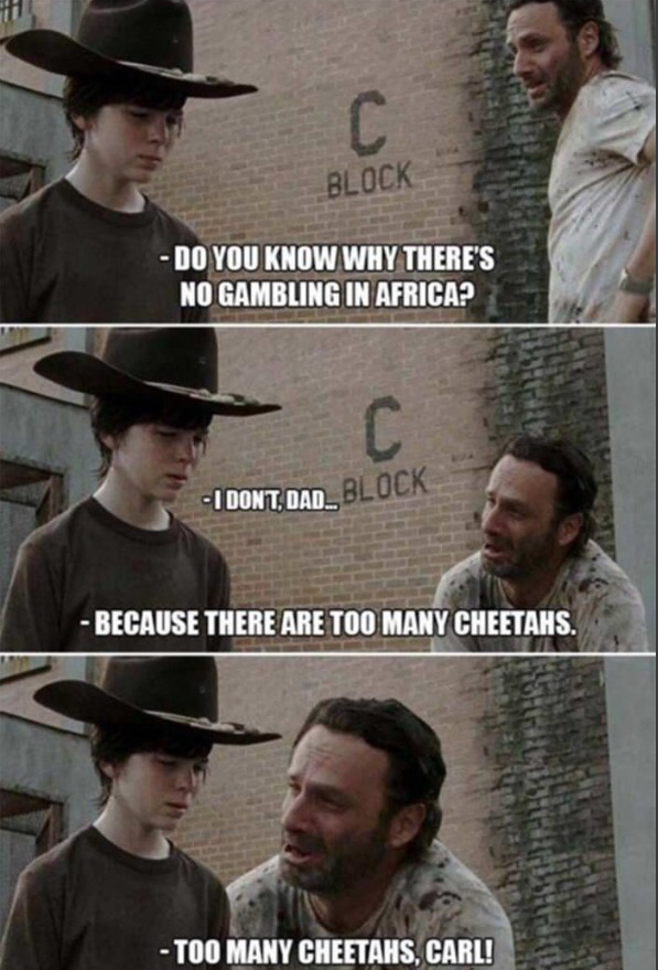 Damn it Carl LAUGH !!! - meme