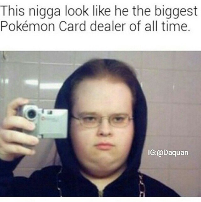 Dealers and pokemon cards - meme