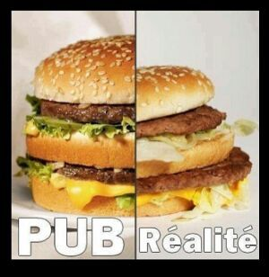 Pub vs Réalité - meme