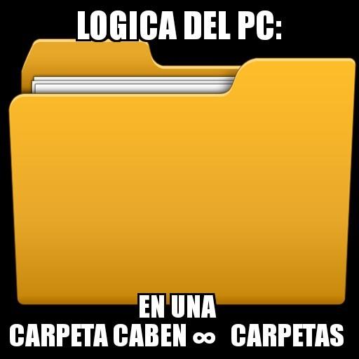 Carpetas del pc - meme