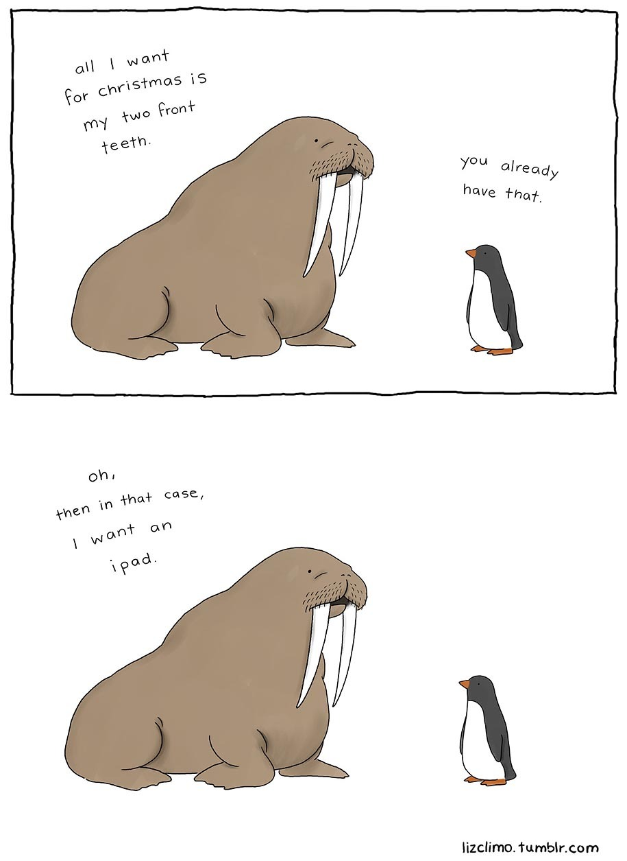 3rd  comment is a walrus - meme