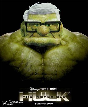 Le hulk de disney - meme