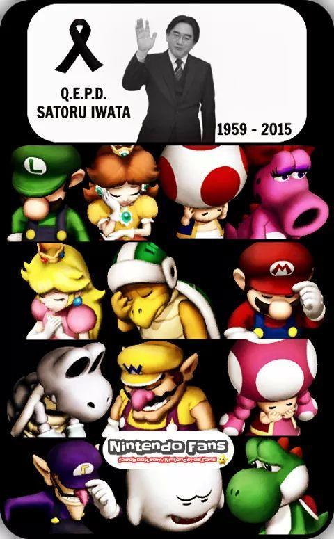 R.I.P Iwata :'( - meme