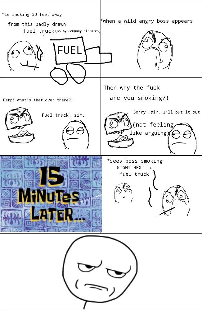 Hypocritical boss - meme