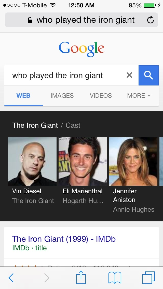 vin diesel played the iron giant!? - meme