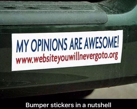 bumper stickers - meme