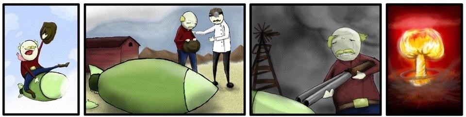 historia de un misil que se llamaba rodolfo - meme