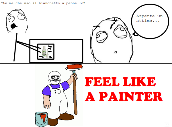 Fell like a painter - meme
