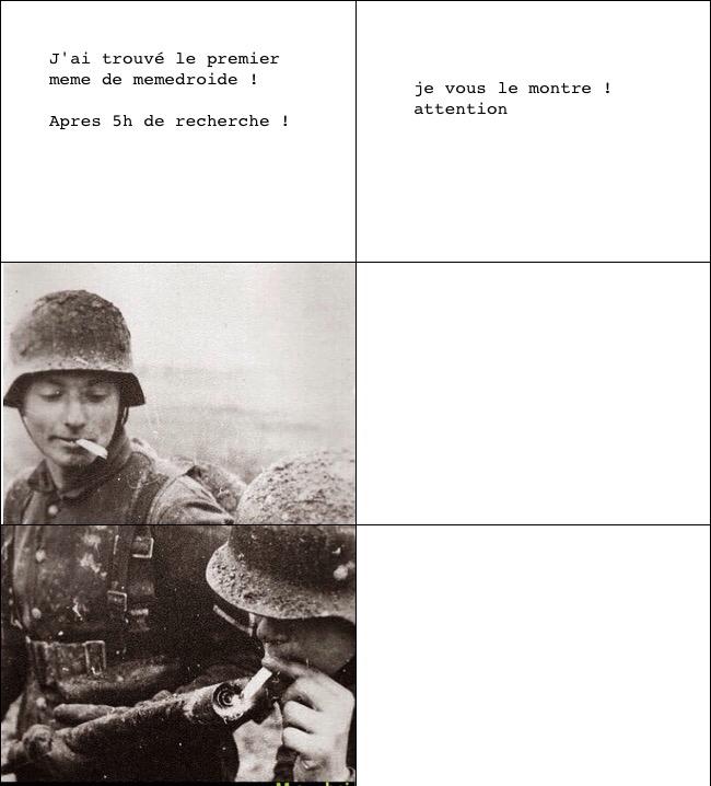 Premier meme de memedroide !