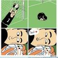 Así actúan los arqueros al atrapar la bola