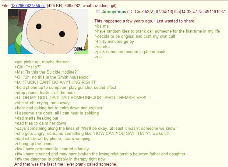 Suicide prank - meme