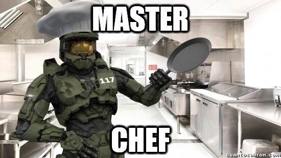 El mejor cocinero/gerrero spartan del mundo - meme