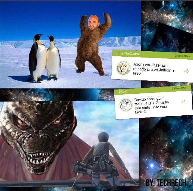 O do titan + godzilla realmente deu trabalho e foi +ou- - meme