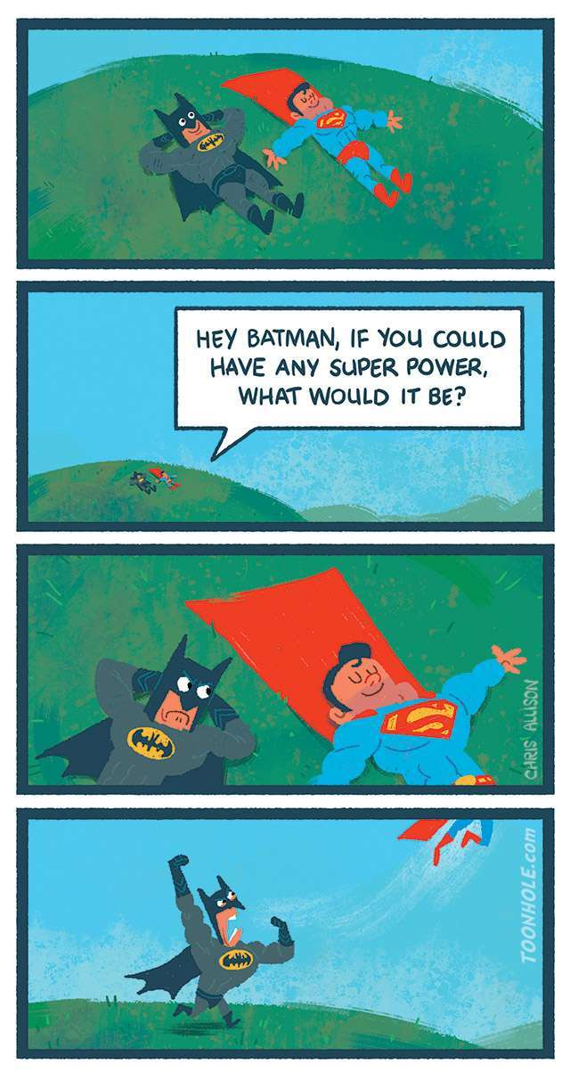 batman doesn't need super powers - meme