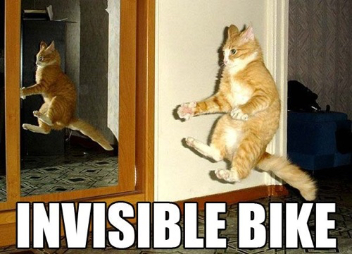 Invisible bike.. - meme