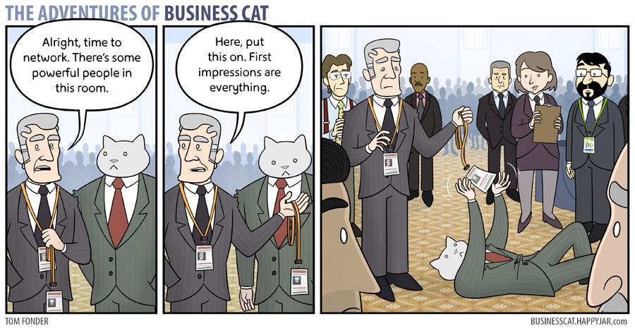 Business cat!! - meme