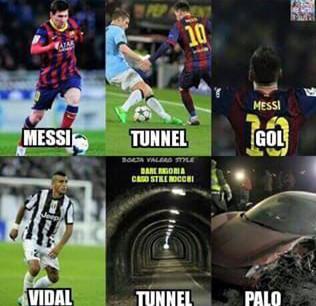 Messi VS Vidal - meme