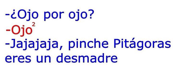Pinche Pitágoras - meme