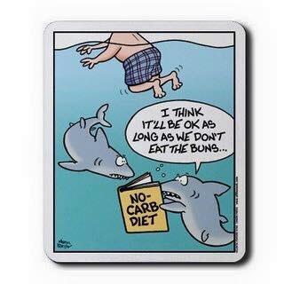 no buns for sharks - meme