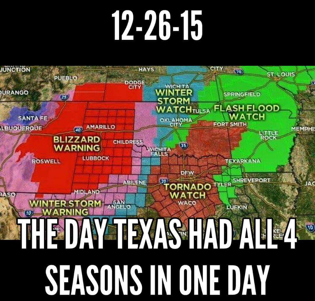Texas weather as usual - meme