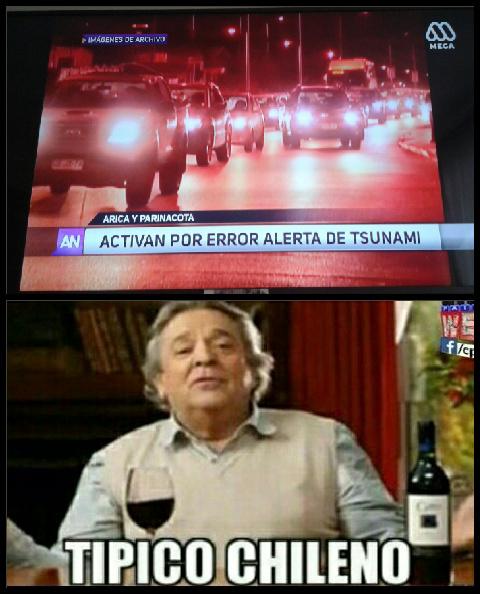Otra vez solo pasa en Chile - meme