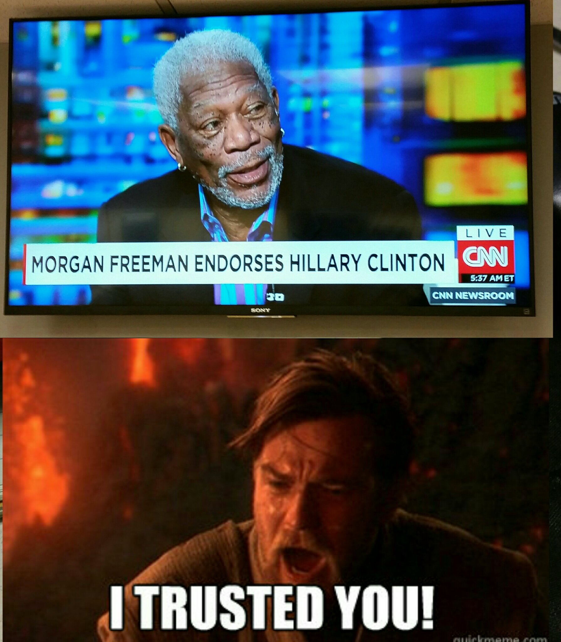 I had so much respect for captain Morgan Freeman - meme