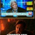 I had so much respect for captain Morgan Freeman